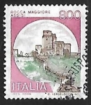 Stamps Italy -  Castillo - Assisi