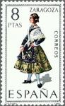 Stamps Spain -  ESPAÑA 1971 2018 Sello Nuevo Trajes típicos Españoles Zaragoza