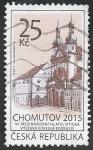 Sellos de Europa - República Checa -  Vista de la ciudad de Chomutov