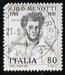 Sellos de Europa - Italia -  Ciro Menotti