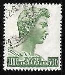 Sellos de Europa - Italia -  Estatua de St. Gorge