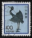 Stamps Japan -  Silver Crane