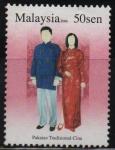 Stamps Malaysia -  HOMBRE  Y  MUJER  CON  TRAJE  TRADICIONAL  DE  CHINA
