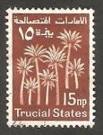 Sellos de Asia - Emiratos Árabes Unidos -  arabia del sudeste - Trucial States - Palmeras