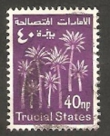 Sellos del Mundo : Asia : Emiratos_Árabes_Unidos : arabia del sudeste - Trucial States - Palmeras