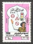 Sellos del Mundo : Asia : Emiratos_Árabes_Unidos : 118 - Semana de la circulación, Agente de tráfico y señales de circulación