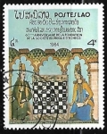 Stamps Laos -  60st Anniv of World Chess Federation