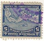 Stamps : America : Panama :  Mapa