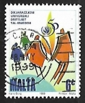 Sellos de Europa - Malta -  Familia simbolica