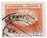 Stamps of the world : Bolivia :  Conmemoracion de la revolucion del 21 de Julio de 1946
