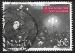 Stamps Malta -  Sir Paul Boffa making speech