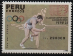 Sellos de America - Perú -  4th  JUEGOS  DEPORTIVOS  SUDAMERICANOS.  CARRERA.