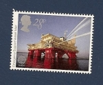 Stamps Europe - United Kingdom -  Obras de Ingeniería - EUROPA - buque plataforma de apoyo y emergencias IOLAIR