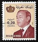 sellos de Africa - Marruecos -  King Hassan II