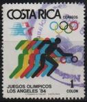 sellos de America - Costa Rica -  JUEGOS  OLíMPICOS  LOS  ANGELES  1984.  BASKETBALL.