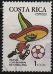 Stamps Costa Rica -  CAMPEONATO  MUNDIAL  M�ÉXICO  1986