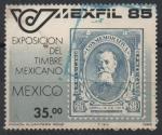 Stamps Mexico -  EXPOSICION  DEL  TIMBRE  MEXICANO.  VENUSTIANO  CARRANZA.