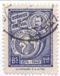 Sellos de America - Bolivia -  Conmemoracion del 75 aniversario de la Union Postal Universal