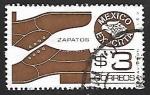 Sellos de America - México -  Mexico exporta - zapatos