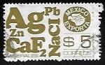 Sellos de America - México -  Mexico exporta - minerales