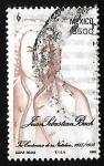 Sellos del Mundo : America : México : 3er centenario del nacimiento de Jan Sebastian Bach