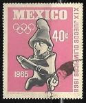 Sellos de America - México -  Juegos olimpicos 1965