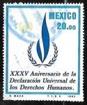 Sellos de America - México -  XXXV Aniversario de la declaracion de los Derechos Humanos