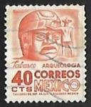 Stamps of the world : Mexico :  Cabeza de piedra en Tabasco
