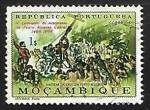 Sellos de Africa - Mozambique -  Hastear de cruz en Porto Seguro