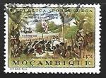 Sellos de Africa - Mozambique -  Primera misa en Brasil
