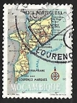 Sellos de Africa - Mozambique -  Mapa e Mozambique