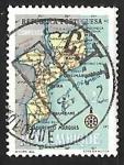 Stamps Mozambique -  Mapa e Mozambique