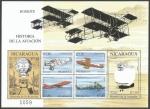 Sellos del Mundo : America : Nicaragua : Historia de la Aviación (2000)