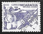 Sellos de America - Nicaragua -  Reforma agraria - Fabrica de algodon