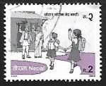 Sellos de Asia - Nepal -  Las niñas no van a ser mas discriminadas