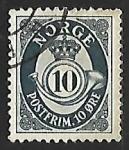 Sellos de Europa - Noruega -  Posthorn