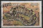 sellos de Africa - Uganda -  RHINOCERUS  VIPER