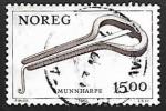 Stamps : Europe : Norway :  Instrumentos musicales