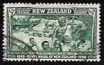 Sellos de Oceania - Nueva Zelanda -  Maoríes que llegan a Nueva Zelanda en 1350