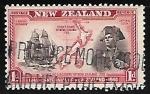 Stamps of the world : New Zealand :  Explorador y su velero
