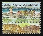 Sellos de Oceania - Nueva Zelanda -  Playa