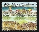 Sellos del Mundo : Oceania : Nueva_Zelanda : playa