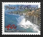 Stamps : Oceania : New_Zealand :  Tongaporutu Cliffs