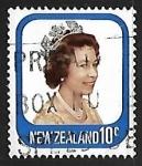 Stamps New Zealand -  Queen Elizabeth II