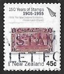 Sellos del Mundo : Oceania : Nueva_Zelanda : 150 aniversario del sello
