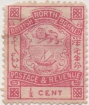 Stamps Asia - Brunei -  Borneo_North Y & T Nº 34
