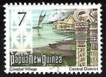 Stamps Oceania - Papua New Guinea -  Coastal Village
