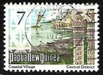 Stamps Oceania - Papua New Guinea -  Coastal Village