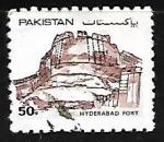 Sellos del Mundo : Asia : Pakistán : Fuerte Hyderabad