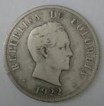 monedas de America - Colombia -  1922 plata 50 centavos